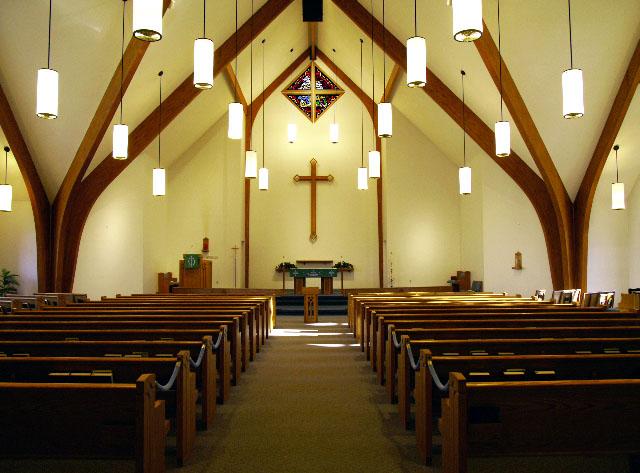 Holy TrinitySidney, NE · Gunder Sanctuary Pews